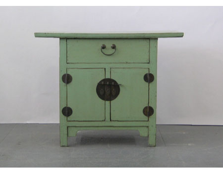 A Chinese small country-style light table cabinet