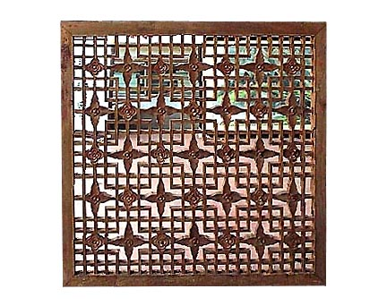 An Unusual Wooden Panel with Latticework Design